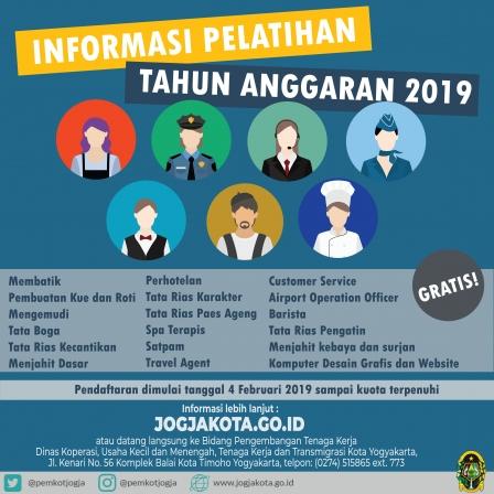 Informasi Pelatihan untuk Warga Kota Yogyakarta 2019